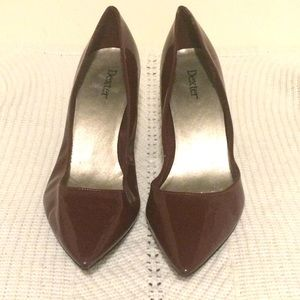 Women's Burgundy Patent Leather Pump - Size 9